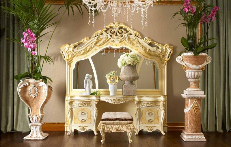Baroque Style In The Interior Of The Apartment