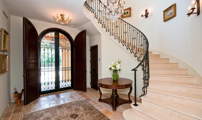 Hallway Design With A Staircase In A Private House