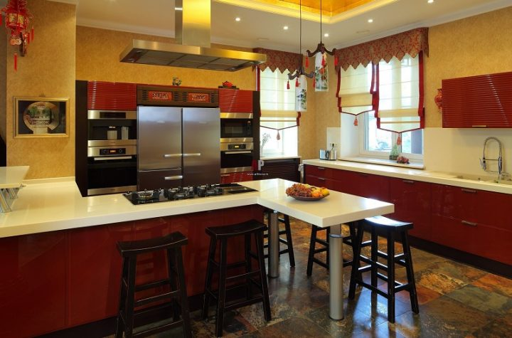 Chinese Style Kitchen In The Interior